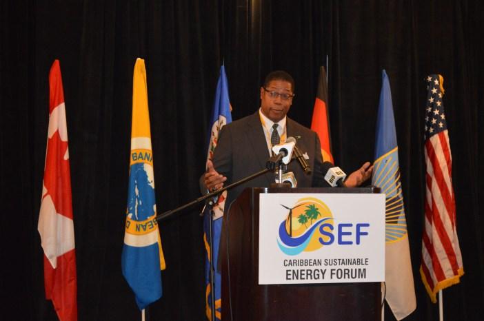 Mr. Jerry Butler, Executive Director, IDB addresses CSEFV opening
