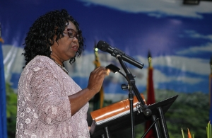 Ms. Shirley Pryce delivers her acceptance speech