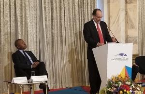 Secretary-General making his presentation