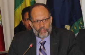 CARICOM Secretary-General, Ambassador Irwin LaRocque at the opening of the 48th COTED Meeting