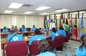 CARICOM DSG Amb. Manorma Soeknandan PhD., engages with the students