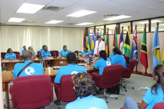 CARICOM Deputy Secretary-General engages student visitors