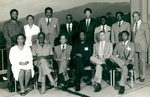 Prime Minister Edward Seaga, front row, 2nd right, at CARICOM Heads of Government Meeting