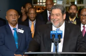St Vincent and the Grenadines Prime Minister Dr. Ralph Gonsalves at the UN for the historic vote
