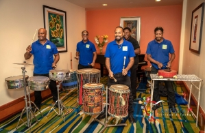 Throwback: Drummers from the Malick Folk Performing Company Photo: Jeff Mayers