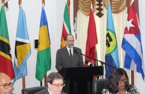 CARICOM Secretary-General, H.E. Irwin LaRocque addresses the meetingCaricom cuba-sg