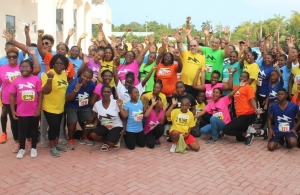 Throwback: A group shot of CARICOM 10k participants in Jamaica in 2018
