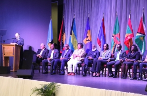 Secretary-General LaCARICOM Secretary-General, Amb. Irwin LaRocque addresses the opening of the 40th CARICOM Heads of Government Meeting