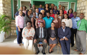 Participants at the Crime and Violence Prevention Mitigation training in Antigua and Barbuda earlier this year