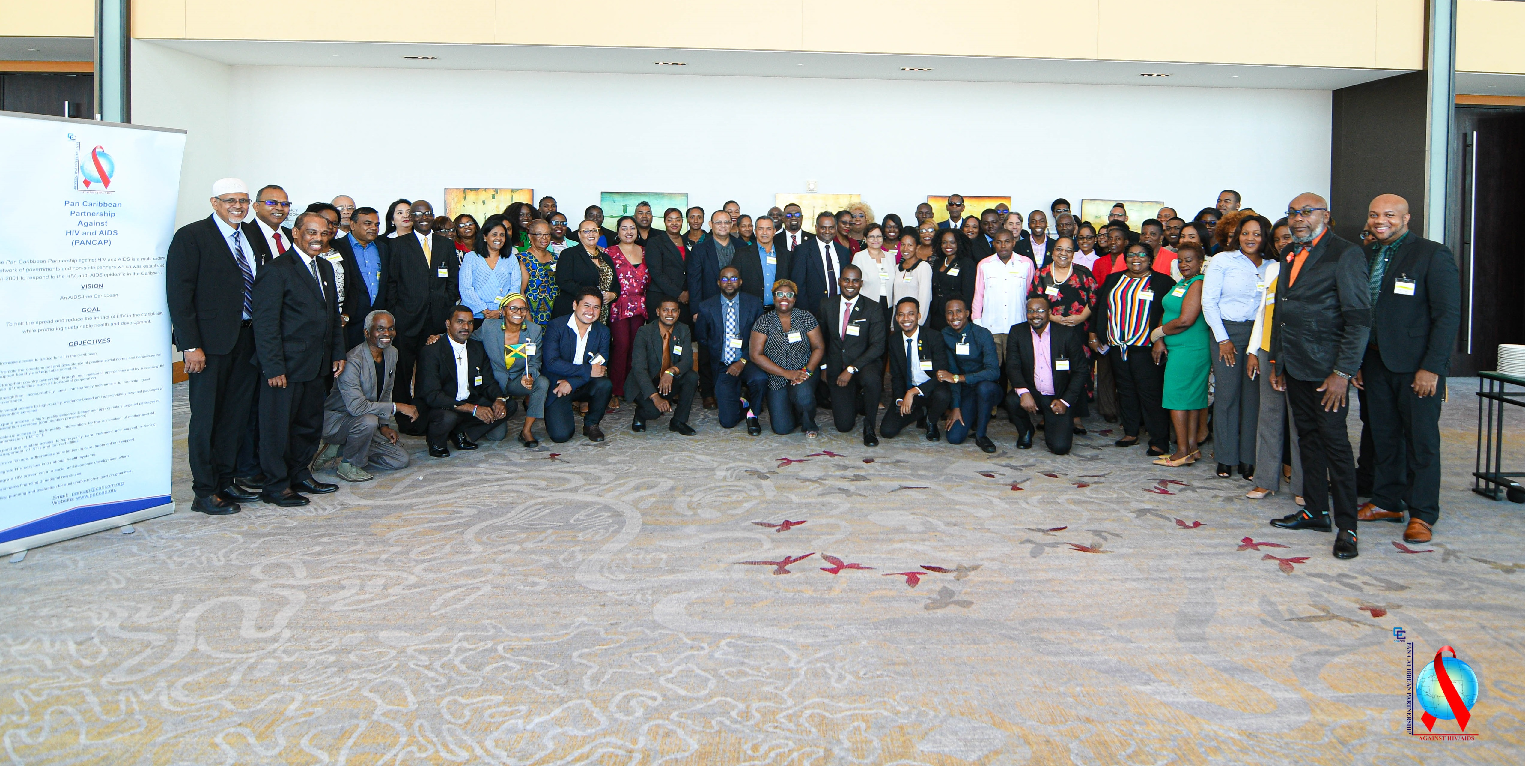 Participants of the Second joint regional dialogue with parliamentarians, faith leaders, civil society leaders, national AIDS programme managers and youth leaders.
