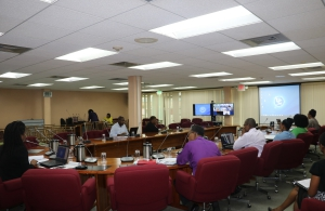 CARICOM Secretariat Members of Staff joined the Special Meeting of COTED on ICT from the Secretariat in Guyana. The Meeting was conducted via video conference anchored in Grenada