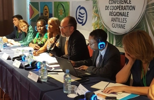 CARICOM Secretary-General, Amb. Irwin LaRocque, (3rd from right) addresses the Conference